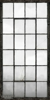 23-022359 Reclaimed Rasch Textil Fabrikfenster Wandbild weiß