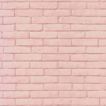 Maueroptik Papier Tapete Rosa