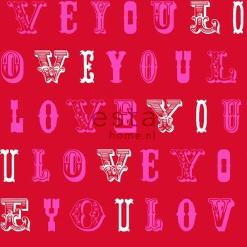Vliestapete Liebe Rot Rosa