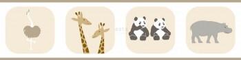 Tiere Borte Papier Kinderzimmer Sand