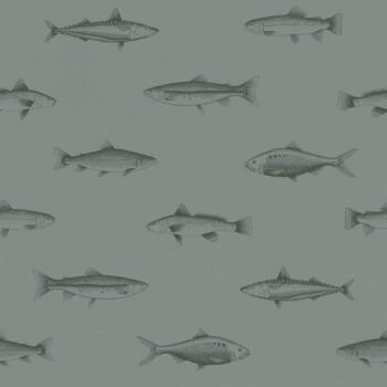 Mistelgrün Vliestapete Fische