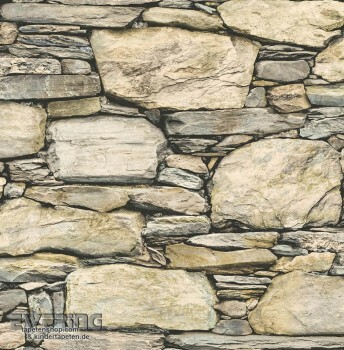 23-022317 Reclaimed Rasch Textil Naturstein Vlies-Tapete beige