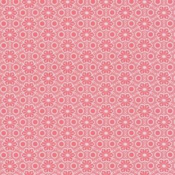 Vliestapete Rot-Weiß Blumen Mädchen