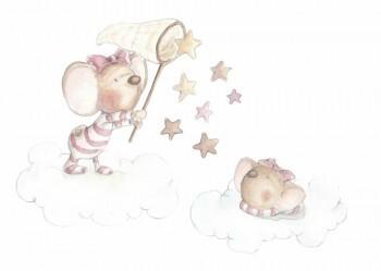 Sticker Mäuse Sternesticker Rosa