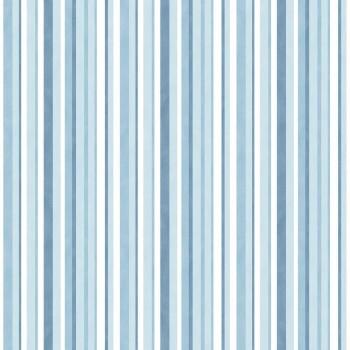 Vlies Tapete Streifen Blautöne