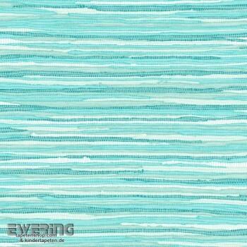 23-148621 Cabana Rasch Textil türkis Grasgewebe-Optik Tapete matt