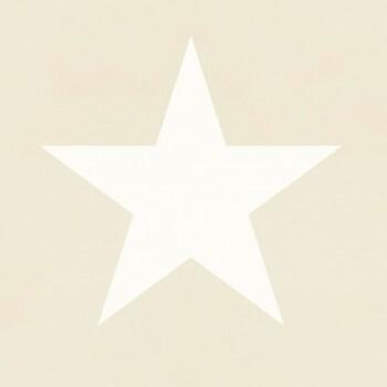 Beige Tapete Sterne Vlies