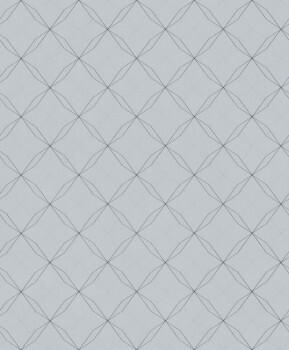 Vliestapete Geometrische Linien Blau/Grün