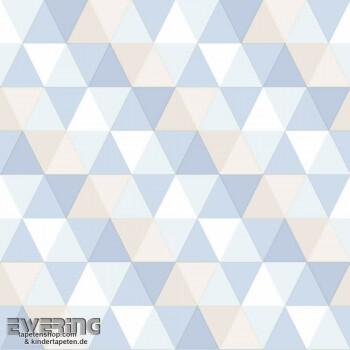 Hellblau Vlies Dreiecke