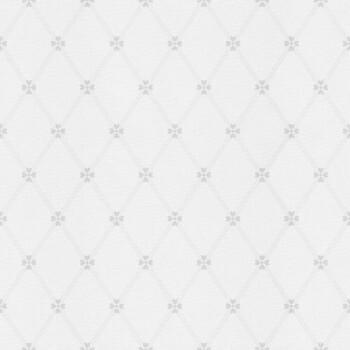 Weiß Grau Herzchen Vliestapete