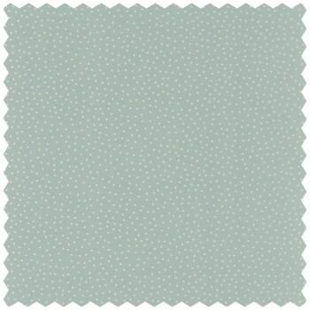 Dekostoff Grün Weiße Punkte