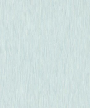 Vliestapete Mint-Blau Streifen Uni