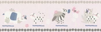 Borte Papier Rosa Tiere Zoo Mädchen