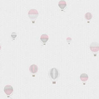 Vliestapete Rosa Heißluftballons Kind