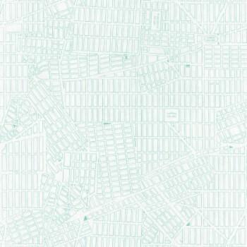36-TONI69496722 Vliestapete Caselio - Tonic Stadtplan New York türkis