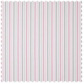 Dekostoff rosa Streifenmuster