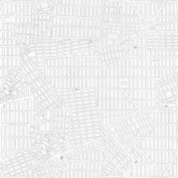 Caselio - Tonic 36-TONI69499122 silber Stadtplan New York Vlies-Tapete
