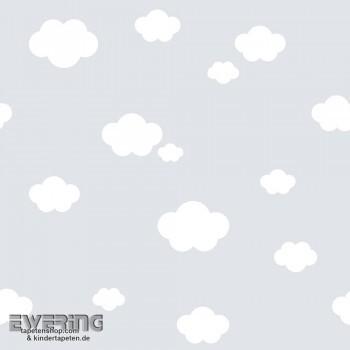 Wolken Tapete Grau Babyzimmer