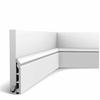 Fußleiste SX118-Ral-9003 Orac Decor Contour weiß endbeschichtet