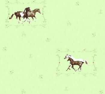 Vliestapete Hellrün Pferde