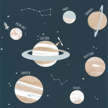 Tapete Vlies Planeten Nacht-Blau Our Planet OUP101906906