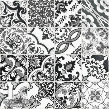 Rasch Textil Cabana 23-148637 Fliesen-Muster dunkel-grau Tapete