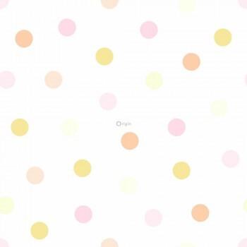 Punktetapete Pink Orange Gelb Vlies