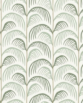 Palmen Tapete Vintage Grün