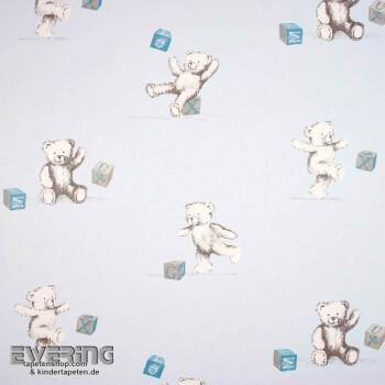 Baby-Blau Dekostoff Teddybär
